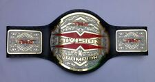 TNA X Division Championship Belt Leather Thick Brass Plated Replica Adult Size