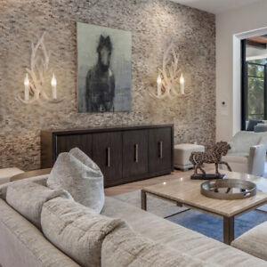 Art Deco Country Resin Antler Wall Light Deer Horn Sconce 2 Lights In White