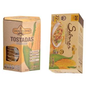 Salmas Horneadas crackers  & Tostadas horneadas Baked Corn Sanissimo pack 2