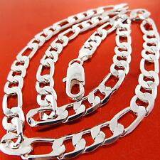 Fsa820 Real 925 Sterling Silver S/F Solid Mens Italian Style Necklace Chain