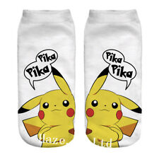 3D Pikachu Ladies Girls Pokemon Socks Ankle Trainer Liners