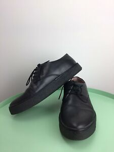 GUC CAMPER WOMENS AMBAR Black Leather Lace Up Brogue Shoes  Labeled Size EU 37