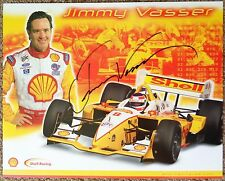 Signed JIMMY VASSER 2002 PROMO SHEET In-Person Autograph Champ Car CART Shell