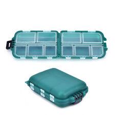 Fishing Lure Bait Tackle Waterproof Plastic Storage Box Case W/ 10 CompartmentsW