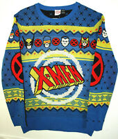 Marvel Comics X-Men Festive Ugly Holiday Knit Sweater Sweat New XL Tags