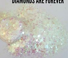 Nail glitter 5g DIAMONDS ARE FOREVER  For acrylic or gel multicut glitter