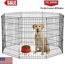 "36""H 8 Panel Dog Playpen, Black, Good quality, Special offer"