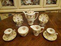 Antique c.1910-1950 Minton England BYRON Demitasse Coffee Pot Service for 4 MINT