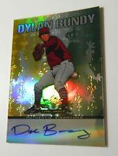 Dylan Bundy Auto 2011 Leaf Valiant Baltimore Orioles signed RC