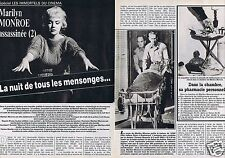 Coupure de presse Clipping 1987 Marilyn Monroe (5 pages)