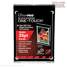 5 X Ultra Pro UV One Touch Black Boarder 35pt Magnetic Closure Card Protector