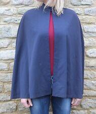 Vintage 20 S 30 S? bleu marine soie rouge doublé infirmières Cape belle!