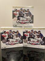 3 Topps Chrome 2020 Update Series Baseball Mega Blaster Box - Factory Sealed!