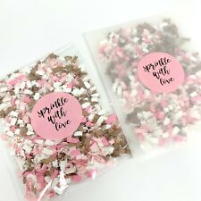 Biodegradable Confetti Wedding Bags PACKETS Ivory Pink ROSE GOLD Glassine Pack