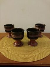 Takahashi San Francisco Pottery Low Goblet - made in Japan set of 4