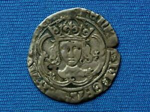 Henry VII Groat - Facing bust issue - Class IIIc - mm none / anchor inverted