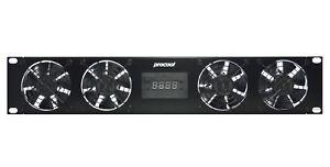 PROCOOL SP480TV (2U) Temp Controlled Rack Mount Fan/ 4x High Speed fans