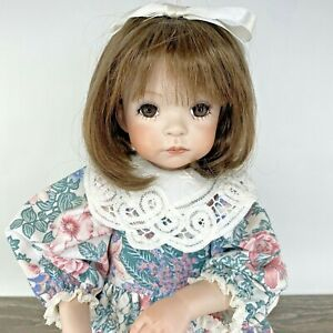 "Jenny Expressions by Dianna Effner Vntg 1992 18"" Porcelain Girl Doll Brown OOAK"