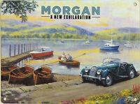 New large 30x40cm MORGAN car vintage enamel style tin metal advertising sign