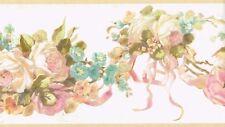 Darling Cottage Floral Swag Wallpaper Border