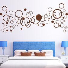 Sticker mural 61 pièces rétro cercles Circle déco à pois années 70 AUTOCOLLANT