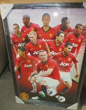 Manchester United FC top  players   Poster (900mmx 600mm) Framed