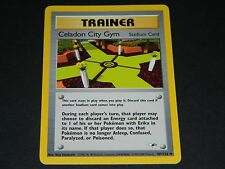 Pokemon Gym Heroes Set UN-COMMON Celadon City Gym 107/132 - NM/M Condition