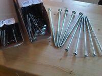 8,0 x 280 mm Tellerkopfschrauben,Holzbauschrauben,Pfostenschrauben blau verzinkt