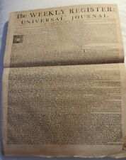 1732 Newspaper - The Weekly Register