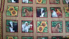 1 Half Metre Sunflower Farm Fabric labels Print Fabric
