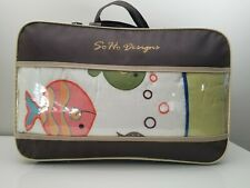 So Ho Designs Baby Nursery Collection Fish sheets bumpers blanket Never Used