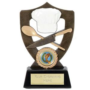 Cooking trophy Baking award 2 sizes Bake off competition Free engraving