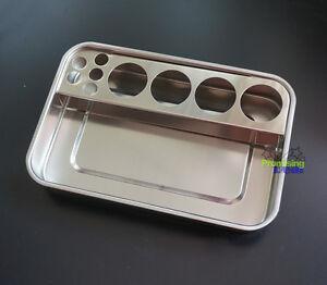 New Dental Stainless Steel Instruments Tray c/w Medicine Bottle Holder