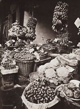 1900/63 MARKET PRODUCE STAND ~ Food Vegetable Fruit France 11x14 By EUGENE ATGET