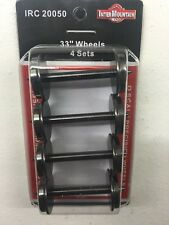 "InterMountain 20050 4 Pack 33"" O Scale 2 Rail Metal Wheel sets MODELRRSUPPLY-com"