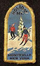HOLIDAY MOUNTAIN Vintage Skiing Ski Patch Monticello NEW YORK NY Souvenir Travel