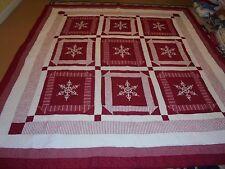 Nice Red & White Framed Snowflakes w/Multi-Frames Quilt