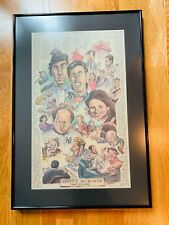 Seinfeld Series Finale 1998 Full Page Newspaper Tribute Framed Quote Watercolor