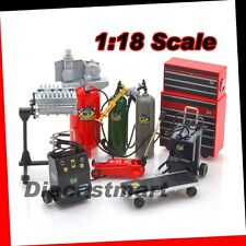METAL GARAGE ACCESSORIES TOOLS SET FOR AUTOART KYOSHO HOTWHEELS 1:18 DIECAST CAR