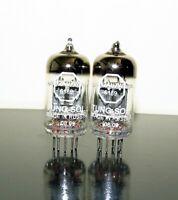 Matched Pair (2) Tung-Sol 6189/ECC82/12AU7W tubes - Russia