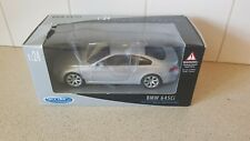 WELLY - BMW 635I SILVER PAINTWORK  1:24 SCALE