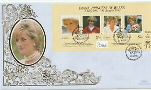 St KITTS 31 MARCH 1998 PRINCESS DIANA IN MEMORIAM M/S BENHAM LE FIRST DAY COVER
