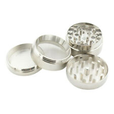 4pcs Silver Tobacco Herb Spice Grinder Herbal Alloy Smoke Crusher w/Scooper