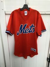 2003 New York Mets Batting Practice Jersey Pullover Majestic Orange Large
