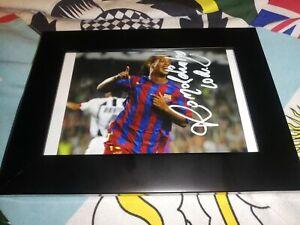 Ronaldinho hand Signed FC Barcelona photo in a frame