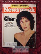 NEWSWEEK November 30 1987 11/30/87 Nov 87 IVF BUDGET STOCK MARKET CHER