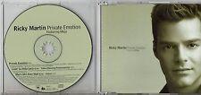 RICKY MARTIN  MEJA CD single 1 traccia PRIVATE EMOTION Made in AUSTRIA + 2 VIDEO