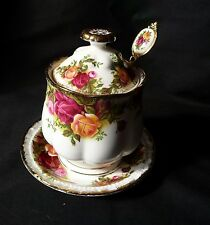 Royal Albert  OLD COUNTRY ROSES ~Lidded Preserve Pot, Spoon and Plate FREE POST