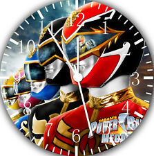 "Power Rangers wall Clock 10"" will be nice Gift and Room wall Decor E18"