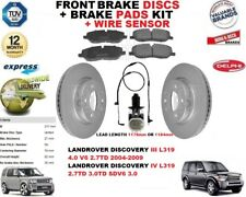 para Land Rover Discovery L319 Discos freno Delantero Set + kit + CABLE del